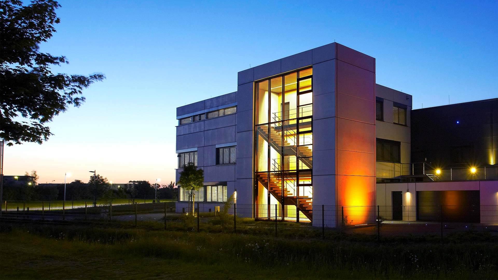 aixFOAM geluidsisolatie - Het bedrijfsgebouw waarin de geluidsabsorbers worden vervaardigd