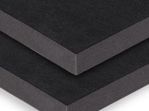 Akoestische panelen met een oppervlak van sterk textiel