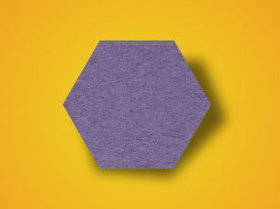 Absorptieplaat met vilten oppervlak Hexagon