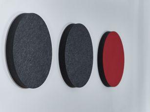 Akoestische panelen met  vilt oppervlak (rond en ovaal)